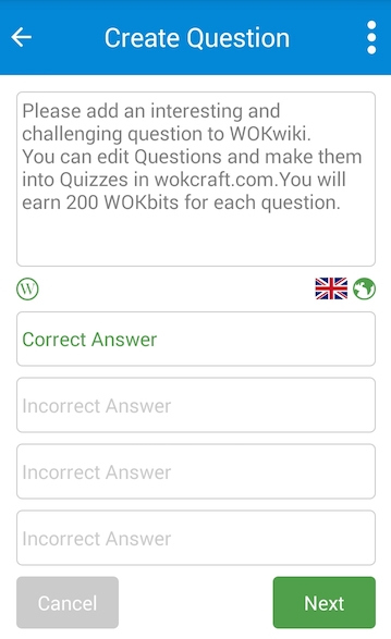 6. Create questions and be a part of WOK!